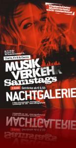 Musikverkehr mit DJ Jester und Alex Sasse in der Nachtgalerie